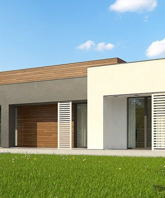 Фото проекта дома Zx65 + вид с улицы