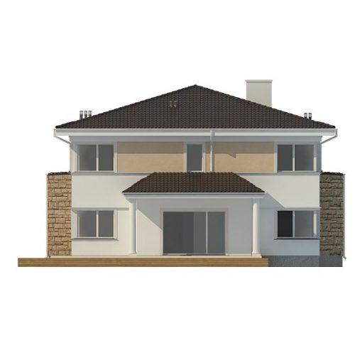 Фасад дома Zx66 3