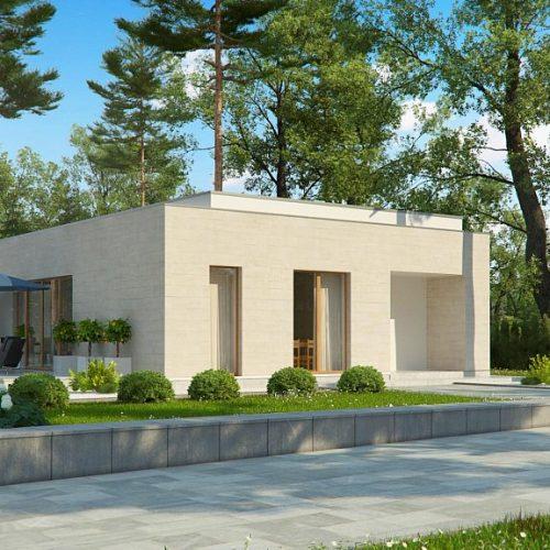 Фото проекта дома Zx67 вид с улицы