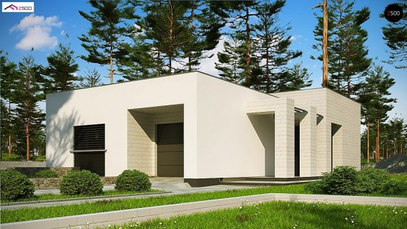 Фото проекта дома Zx68 A minus вид с улицы
