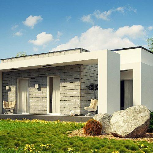 Фото проекта дома Zx69 вид с улицы