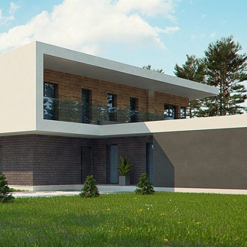 Фото проекта дома Zx70 вид 2