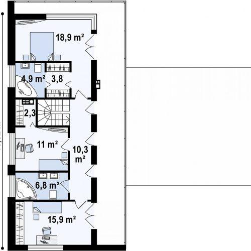 План второго этажа проекта Zx70