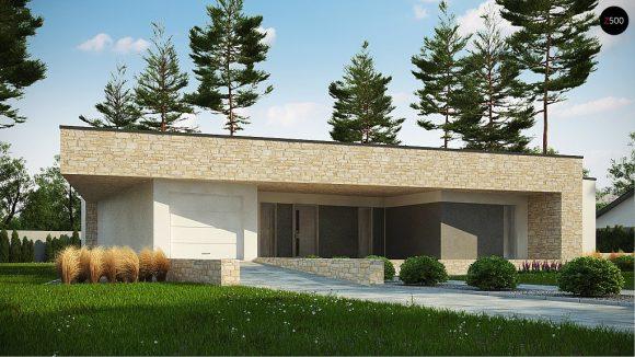 Фото проекта дома Zx71 вид с улицы