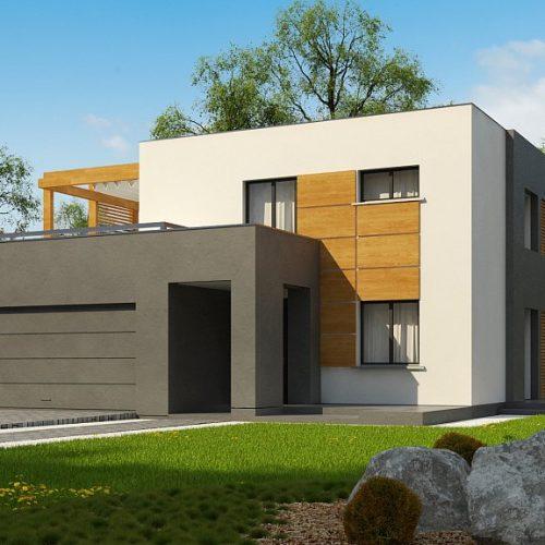 Фото проекта дома Zx73 вид с улицы