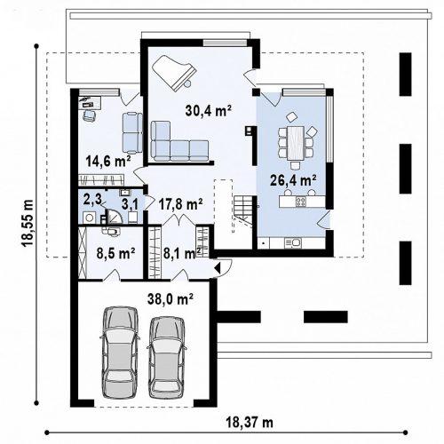 План первого этажа проекта Zx75