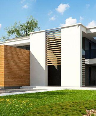Фото проекта дома Zx75 вид с улицы