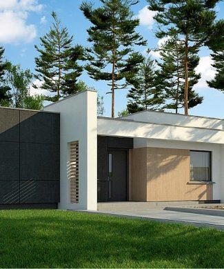 Фото проекта дома Zx77 D вид с улицы