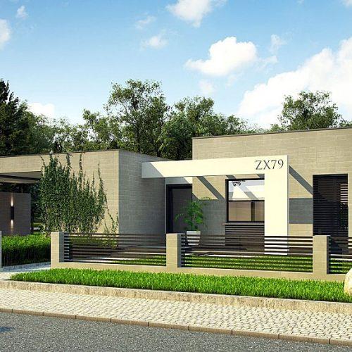 Фото проекта дома Zx79 вид с улицы