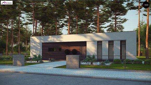 Фото проекта дома Zx80 вид с улицы