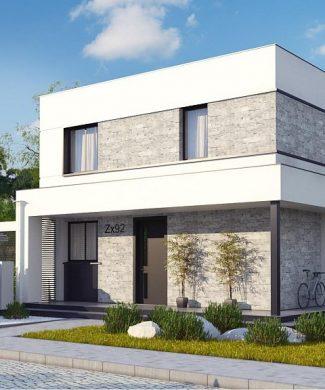 Фото проекта дома Zx92 вид с улицы