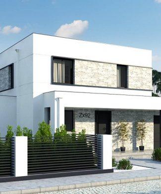 Фото проекта дома Zx92 GP вид с улицы