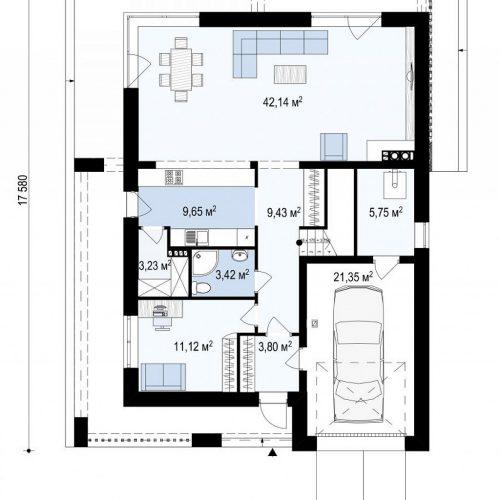 План первого этажа проекта Zx93