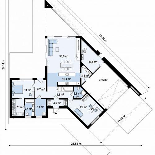 План первого этажа проекта Zx94