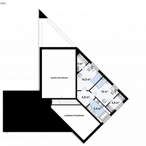 План второго этажа проекта Zx94