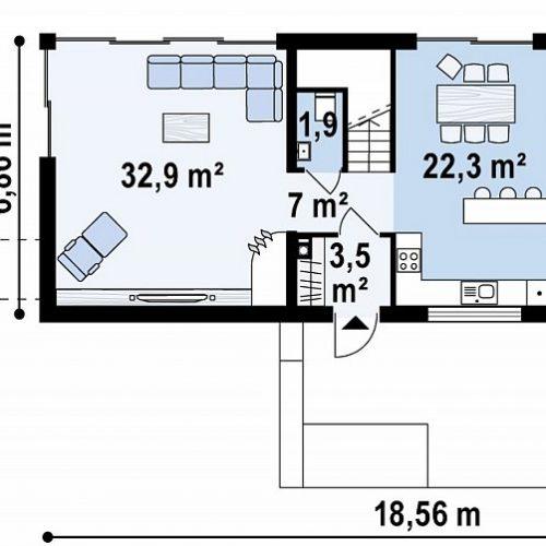 План первого этажа проекта Zx97