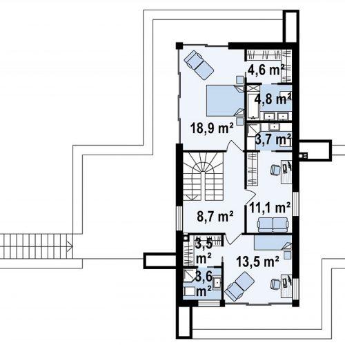 План второго этажа проекта Zx97