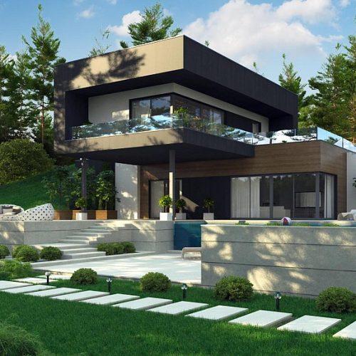 Фото проекта дома Zx97 вид с улицы