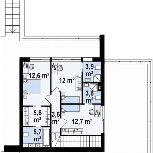 План второго этажа проекта Zx98