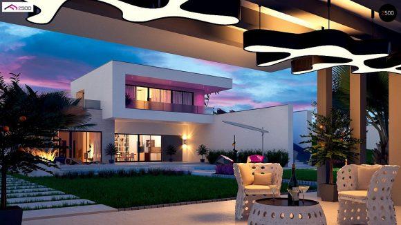 Фото проекта дома Zx98 вид с улицы