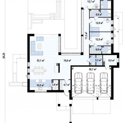 План первого этажа проекта Zx99