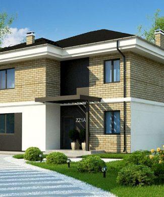 Фото проекта дома Zz1 a вид с улицы