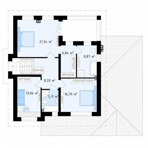 План второго этажа проекта Zz2