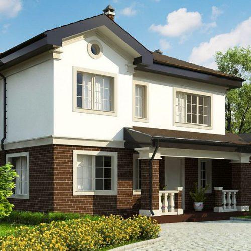 Фото проекта дома Zz2 вид с улицы