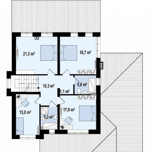 План второго этажа проекта Zz2 L