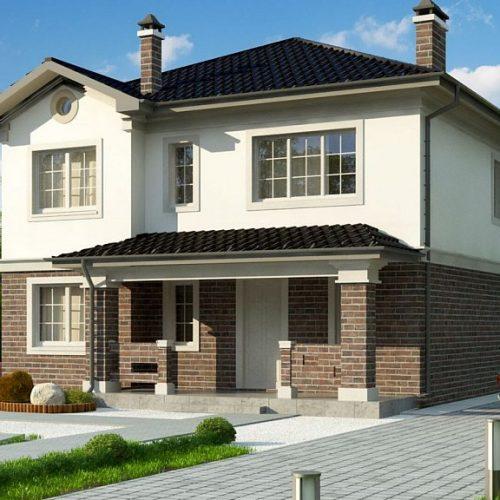 Фото проекта дома Zz2 L BG вид с улицы