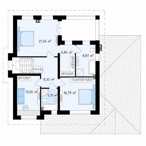 План второго этажа проекта Zz2 S