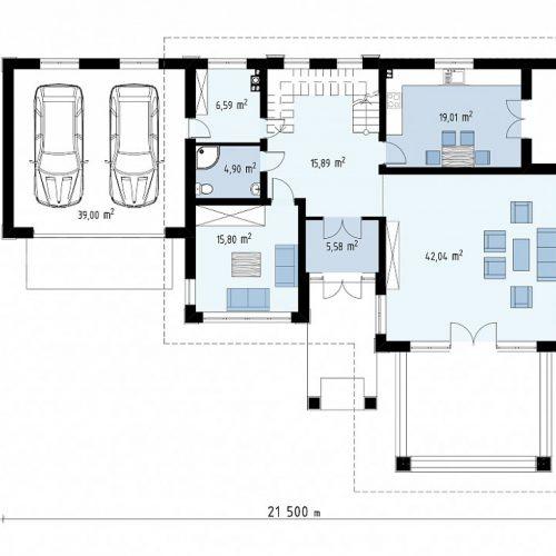 План первого этажа проекта Zz201