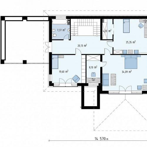 План второго этажа проекта Zz201