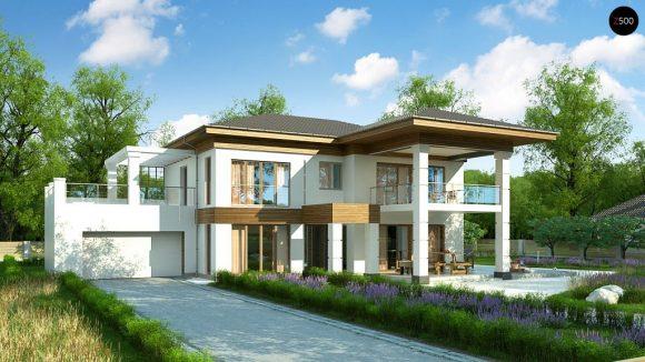 Фото проекта дома Zz201 вид с улицы