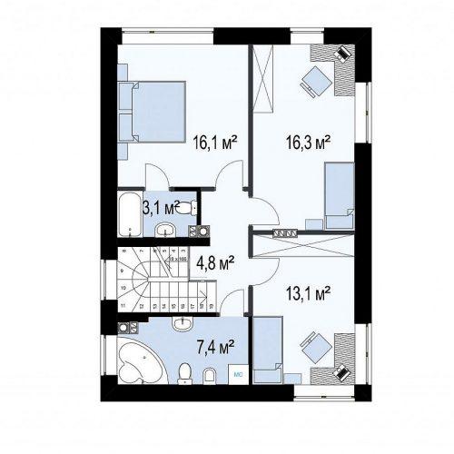 План второго этажа проекта Zz3