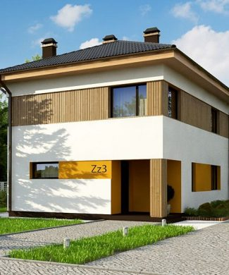 Фото проекта дома Zz3 вид с улицы
