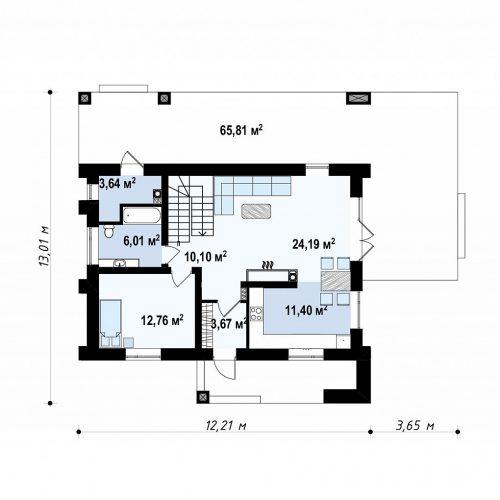 План первого этажа проекта Zz4
