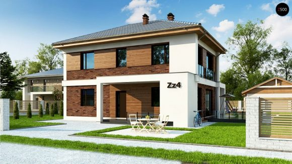 Фото проекта дома Zz4 вид с улицы