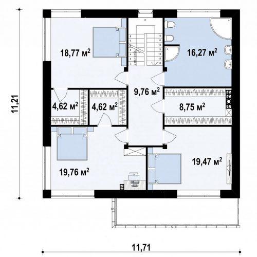План второго этажа проекта Zz5
