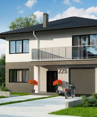 Фото проекта дома Zz5 вид с улицы