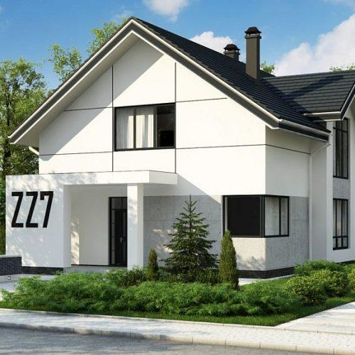 Фото проекта дома Zz7 вид с улицы