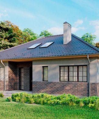 Проект одноэтажного дома с жилым чердаком